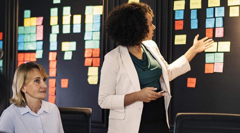 HR Employee Discussing Priorities