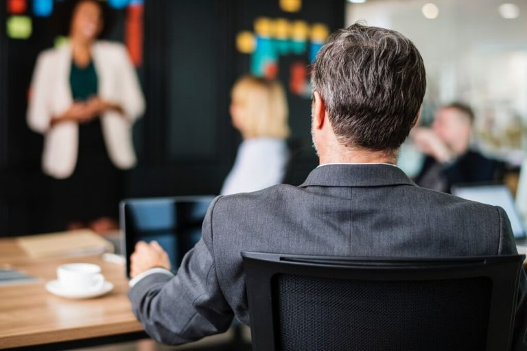 Employees in a Professional Development Meeting