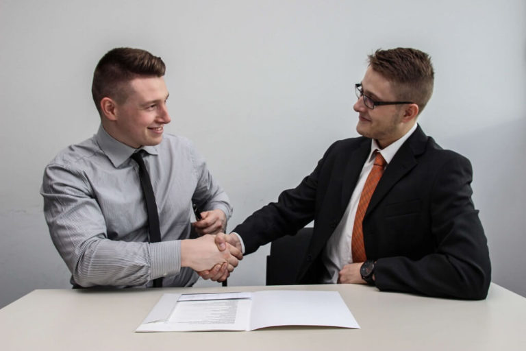 Two Professionals Reviewing Career Transition Opportunities
