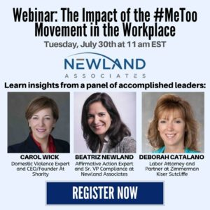 The Impact of the #MeToo Movement in the Workplace Webinar