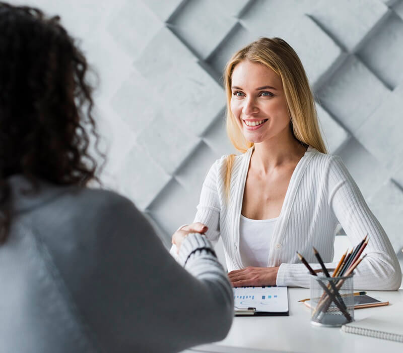 Woman Accepting a Job