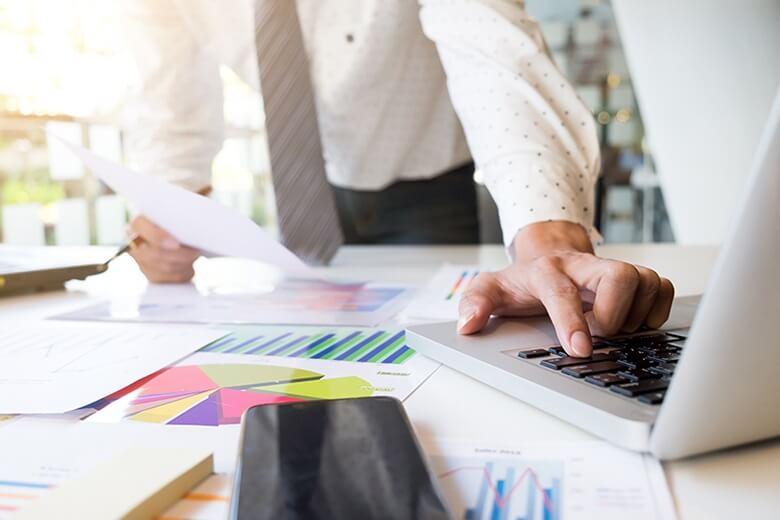 Business Leader Measuring ROI