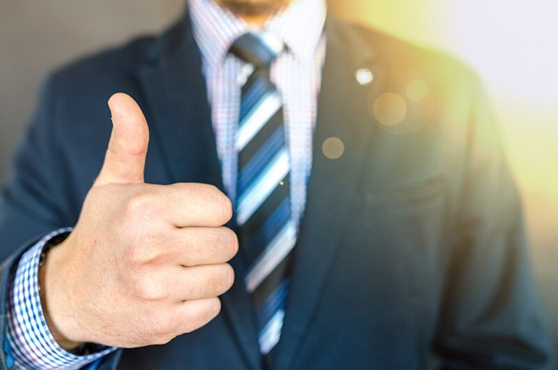 Client Gives a Thumbs Up Testimonial