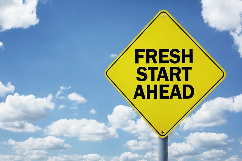 Career Transition Fresh Start Ahead Road Sign