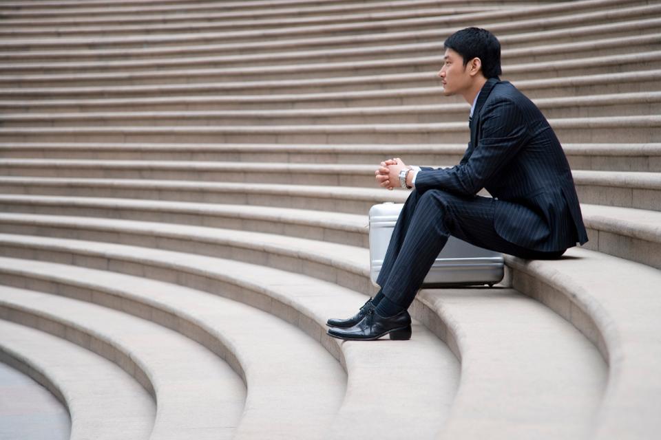 Man Sitting Alone