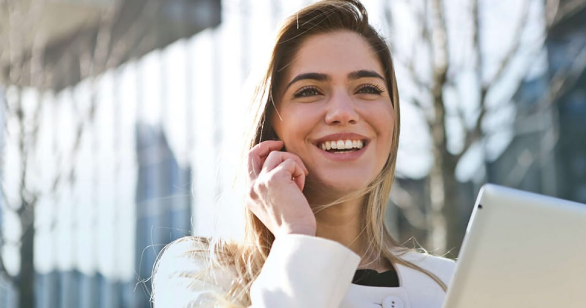 Woman Attaining Career Success