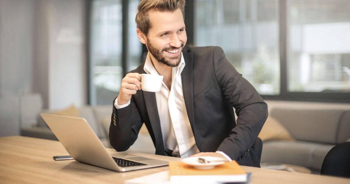 Man Enjoying Job Longevity